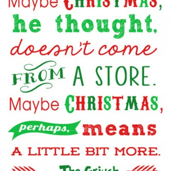 Free Christmas Printables: Grinch Quote + 15 more!