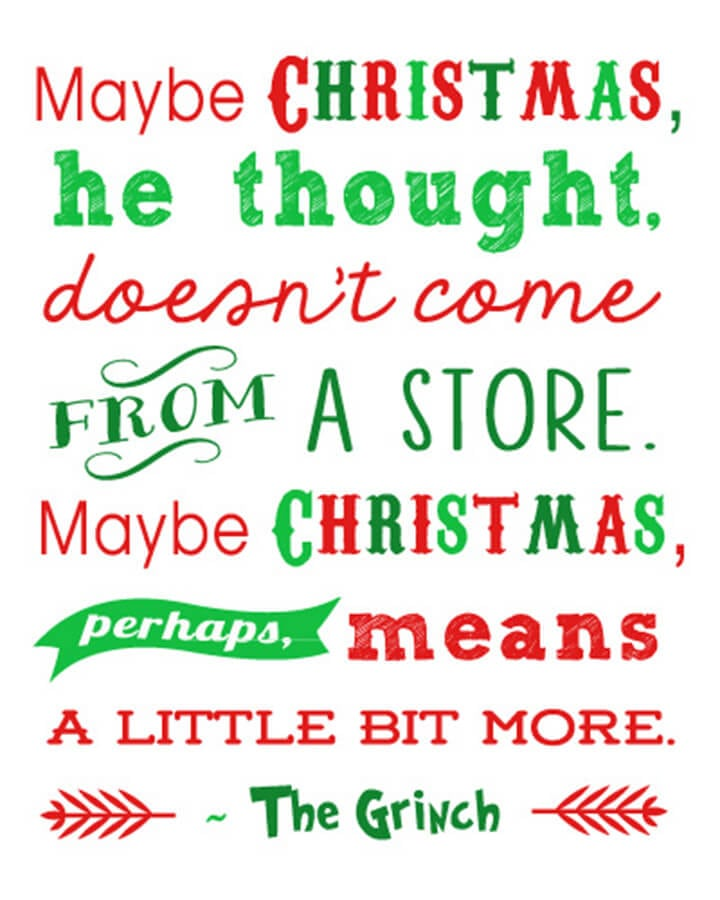 free christmas printables grinch quote 15 more happiness is homemade