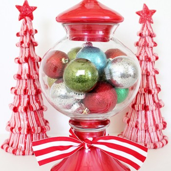 Gumball Machine Christmas Ornament Display
