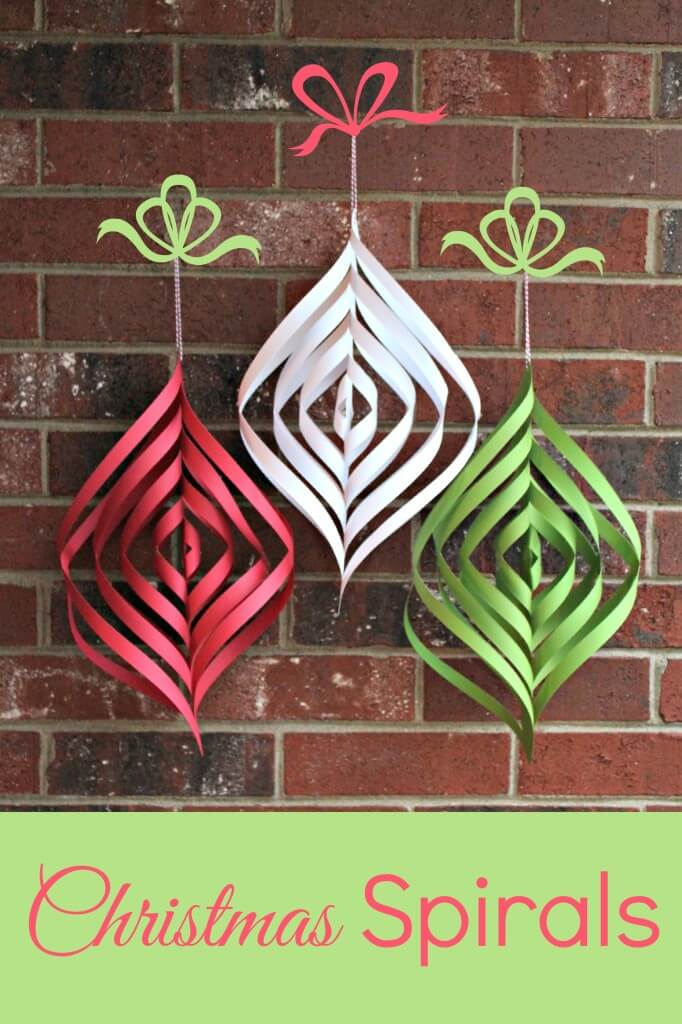 Christmas Decorations Diy With Paper : Diy paper christmas spirals happiness is homemade