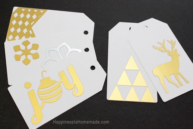 Easy Gold and Silver Metallic Christmas Gift Tags with Silhouette