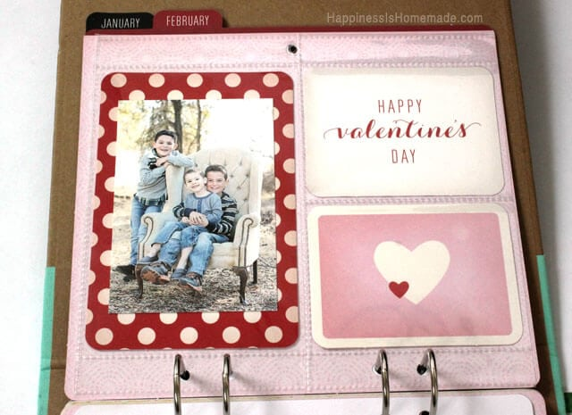 February Layout - Michael's Recollections Calendar Kit