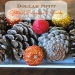 Glittered Pumpkins & Gourds Centerpiece