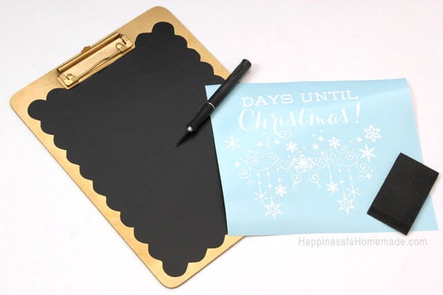 Making a Christmas Countdown Chalkboard Clipboard