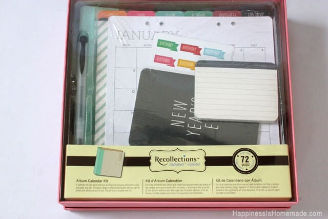 Calendar Kit Ideas : Holiday gift ideas michaels recollections calendar kit
