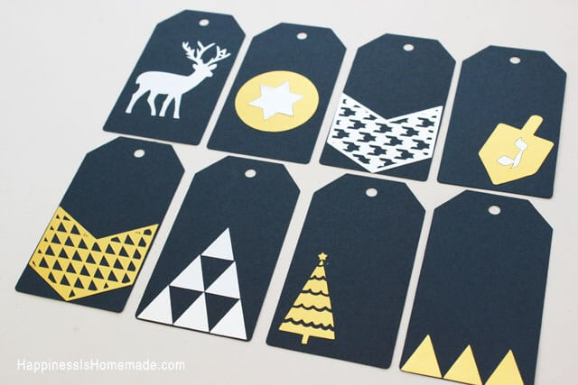 Quick & Simple Gold & Silver Metallic Holiday Gift Tags