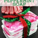 Quick and Easy DIY Peppermint Soap Holiday Gift Idea