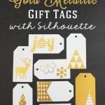 Easy Gold & Silver Metallic Gift Tag Tutorial
