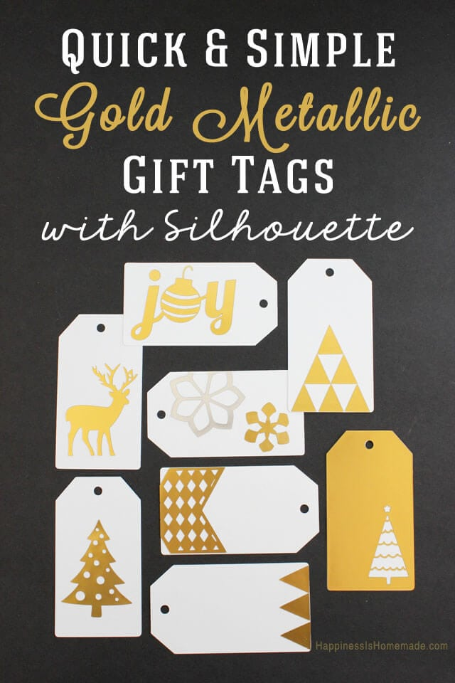 Quick and Easy Gold Metallic Holiday Gift Tags