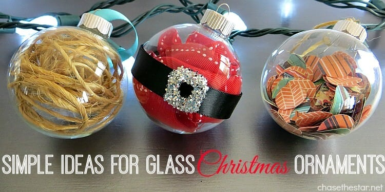 Simple ideas for glass christmas ornaments happiness is for How to design a christmas ornament