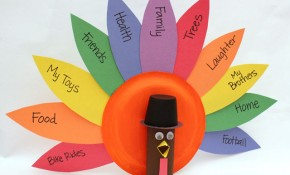 Thanksgiving Gratitude Turkey Kids Craft