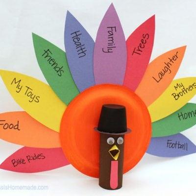 Thanksgiving Kids Craft: Gratitude Turkeys