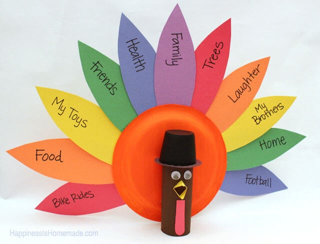 Thanksgiving kids craft gratitude turkeys happiness is for Thankful crafts for kids