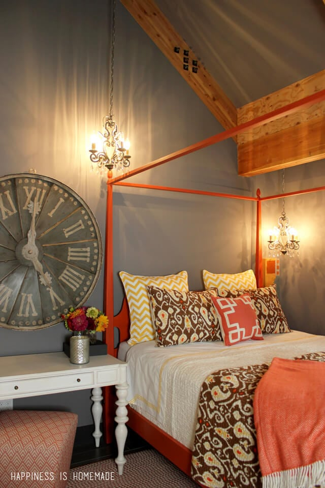 Bedroom at the 2014 HGTV Dream Home