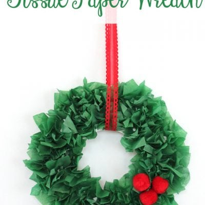 Kids Christmas Craft: Tissue Paper Wreath