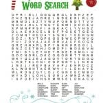 Printable Christmas Word Search