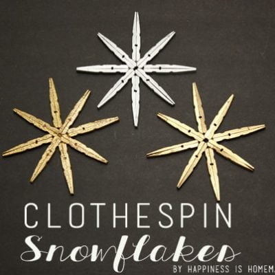 Metallic Clothespin Snowflake Ornaments