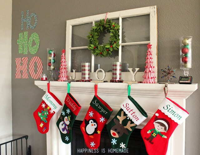 Quick & Easy Holiday Wall Decor - Happiness is Homemade