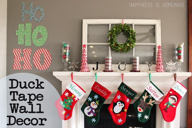 Duck Tape Holiday Wall Decor
