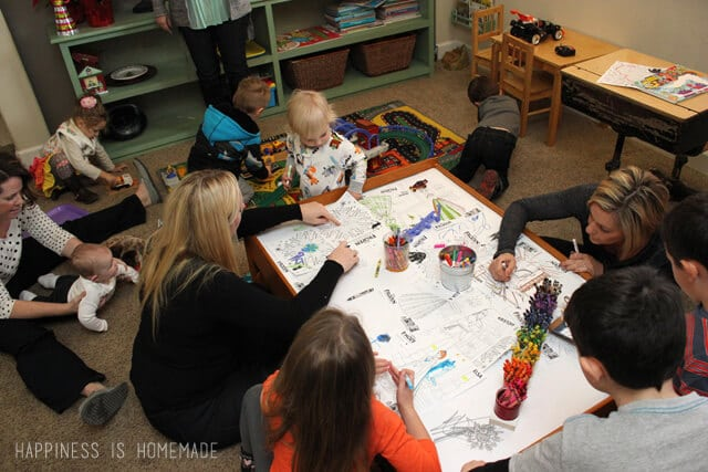 Everyone Loves Coloring at the Disney FROZEN Party #FrozenFun #cbias #shop