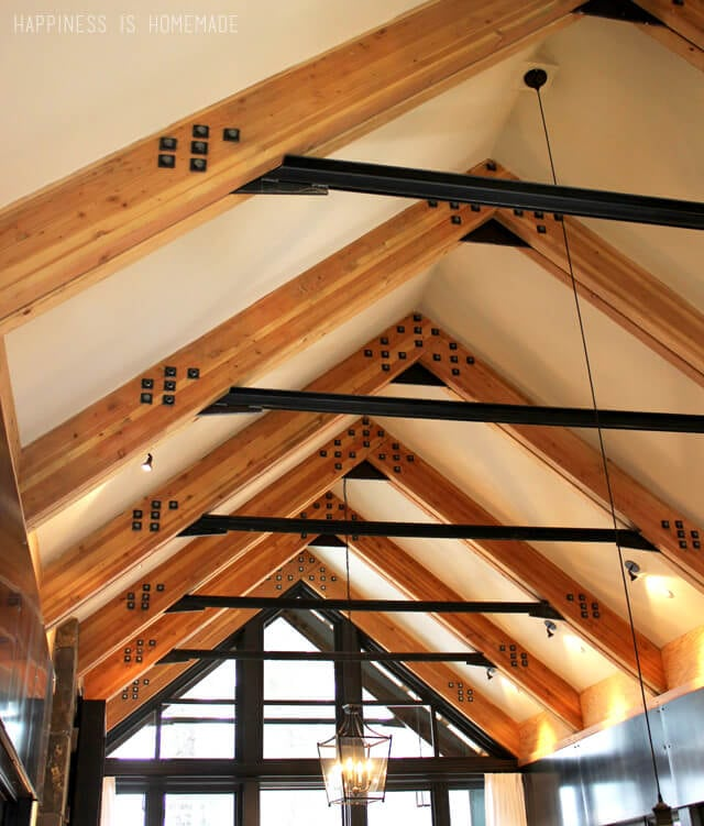 Exposed Beams at the 2014 HGTV Dream Home