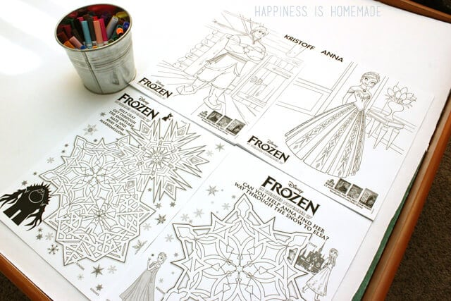 Small Frozen Coloring Pages : Disney s frozen the movie party happiness is homemade