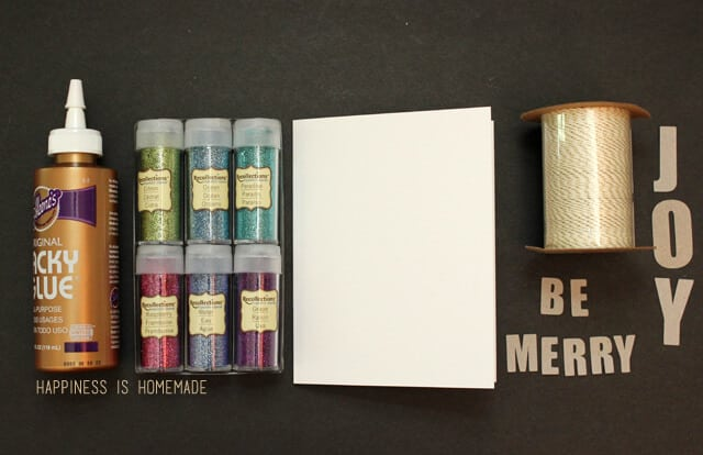 Holiday Banner Card Supplies with Recollections Glitter #glitteratmichaels #spon
