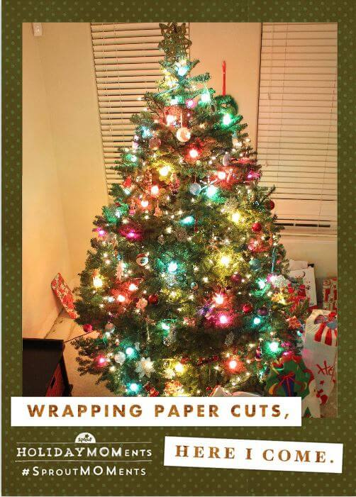 Holiday MOMents - Wrapping Paper Cuts