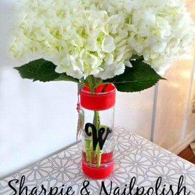 Hostess Gift Idea: Sharpie and Nail Polish on Glass