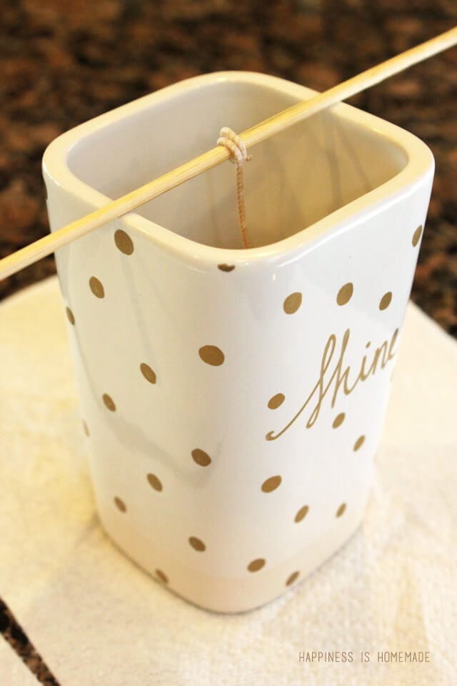 How to Make Your Own Sharpie Decorated Candle