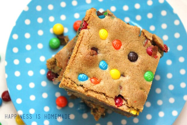 M&M Blondie Brownie Recipe #shop