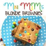 Mini M&M's Blondie Brownie Recipe