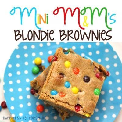 Mini M&M's Blondie Brownie Recipe