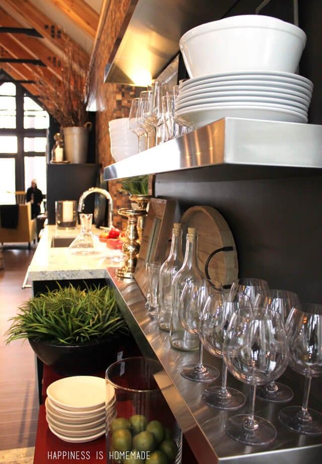 Open Kitchen Shelving at the 2014 HGTV Dream Home