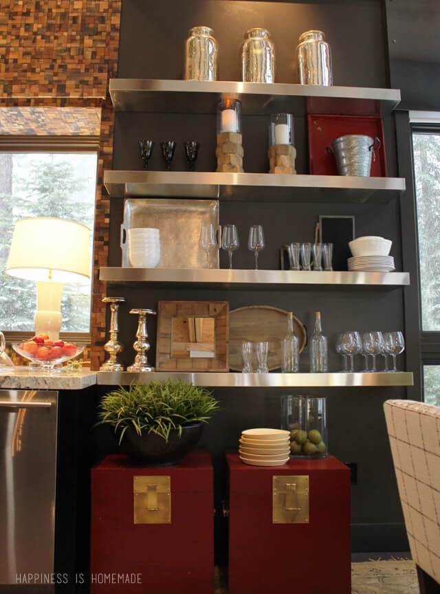 Open Shelving at the 2014 HGTV Dream Home