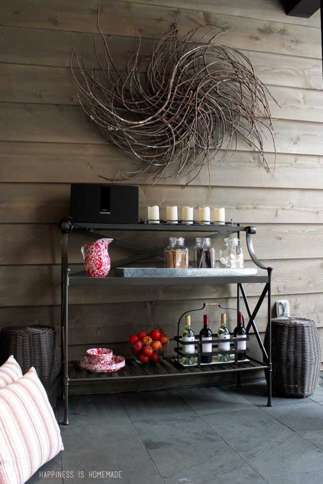 Outdoor S'mores and Wine Cart at the 2014 HGTV Dream Home