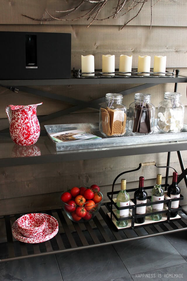 Outdoor Wine and S'mores Cart at the 2014 HGTV Dream Home