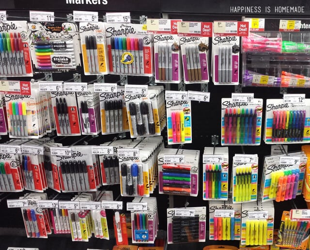 Sharpies at Staples