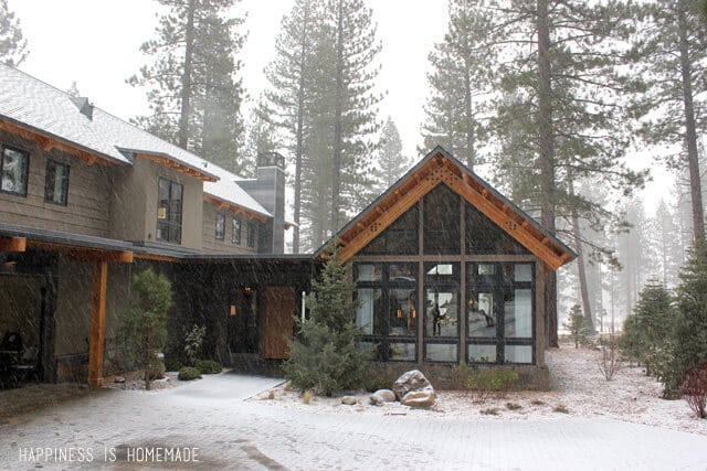 Snowy Front Exterior View at the 2014 HGTV Dream Home
