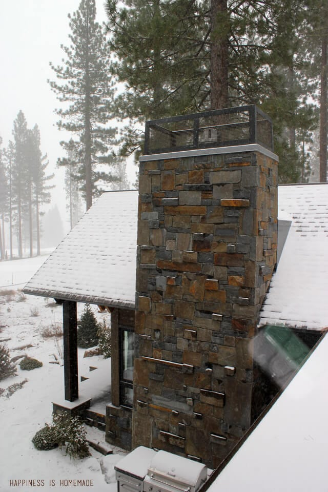 Stone Chimney at the 2014 HGTV Dream Home