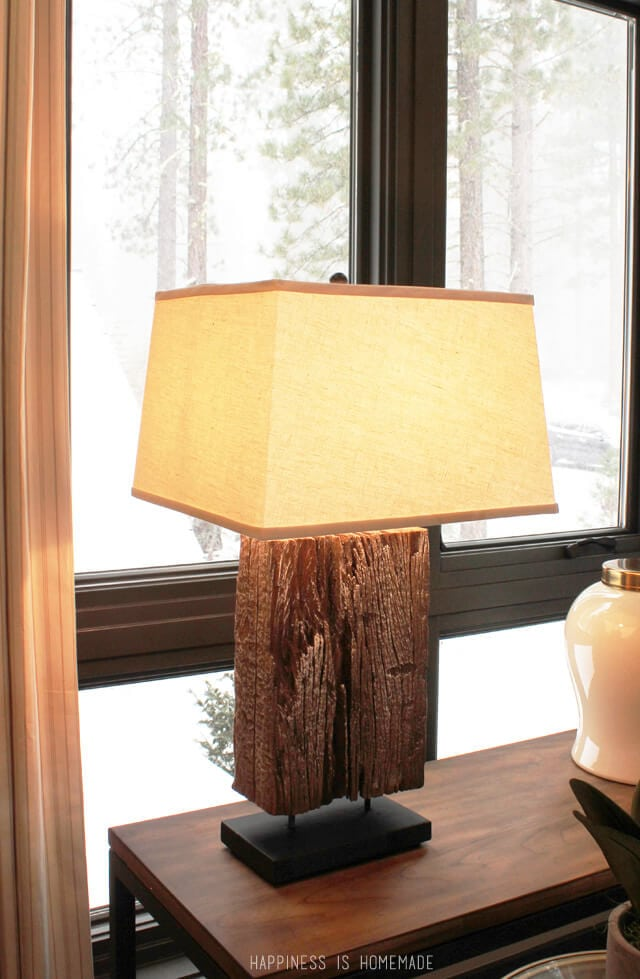 Wood Lamp at the 2014 HGTV Dream Home