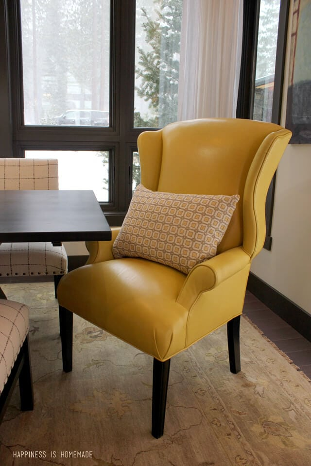 Yellow Leather Dining Room Chairs at the 2014 HGTV Dream Home