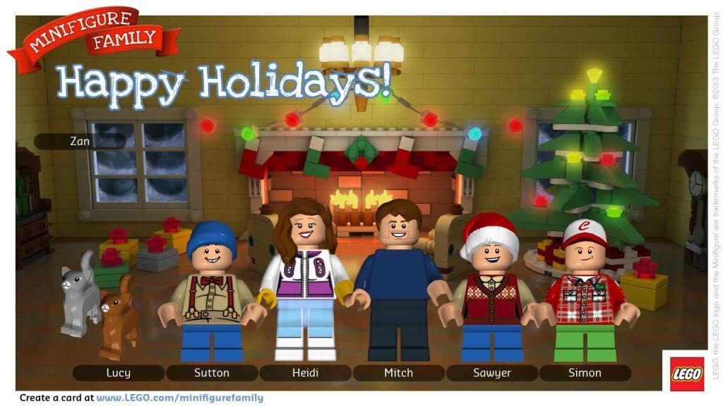 Family Fun: Make a Custom LEGO Minifigure Holiday Card - Happiness ...