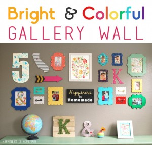 Bright & Colorful Gallery Wall