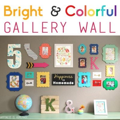 Colorful & Bright Gallery Wall