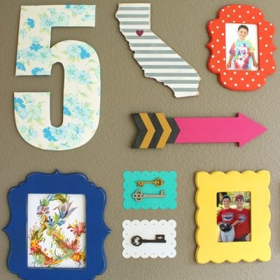 Vintage Sheet Covered Decorative Numbers
