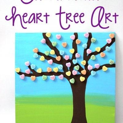 Valentine's Day Conversation Heart Art