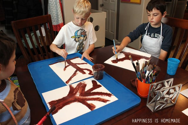 Conversation Heart Trees - Great Valentine's Day Kids Craft