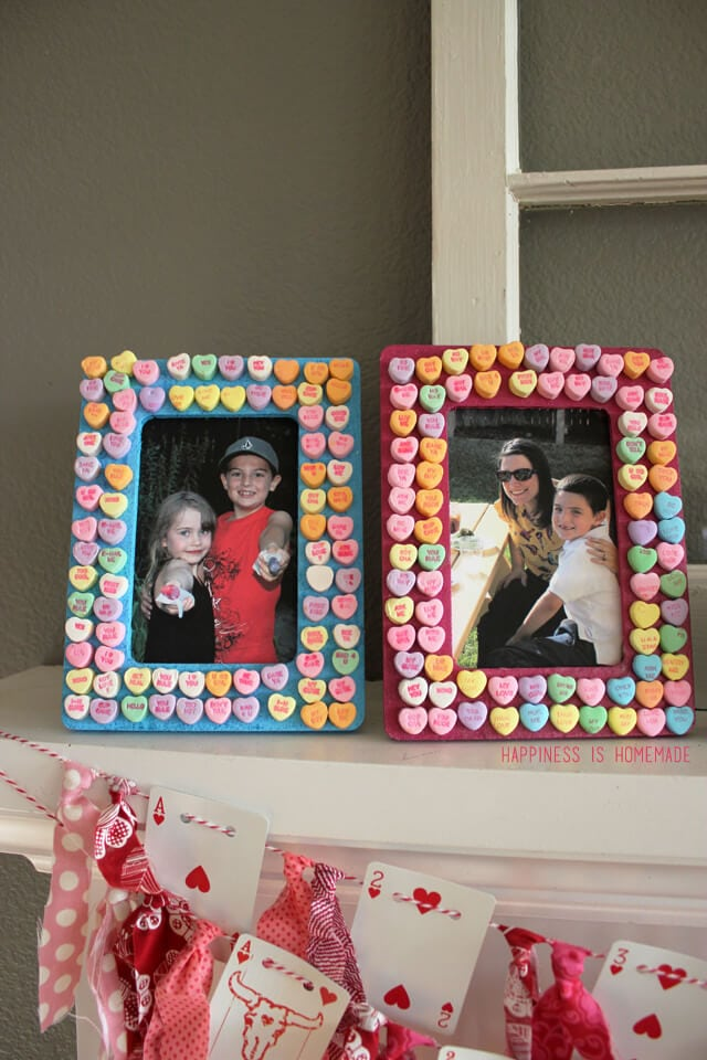 Conversation Heart Valentine's Day Picture Frames Kids Craft