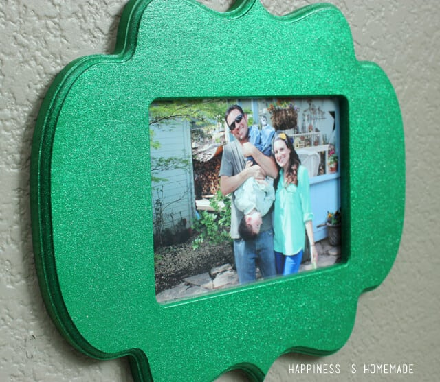 Glamour Dust Painted Glitter Photo Frame